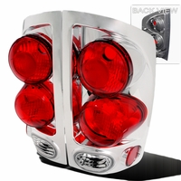 02-06 Dodge Ram 1500 2500 Pickup 3D Style Tail Lights - Chrome