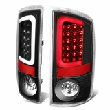 02-06 Dodge RAM Pickup 3D Style LED Tail Lights - Black
