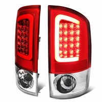 02-06 Dodge RAM Pickup 3D Style LED Tail Lights - Red