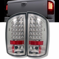 02-06 Dodge Ram Pickup Euro LED Tail Lights - Chrome ALT-YD-DRAM02-LED-C By Spyder