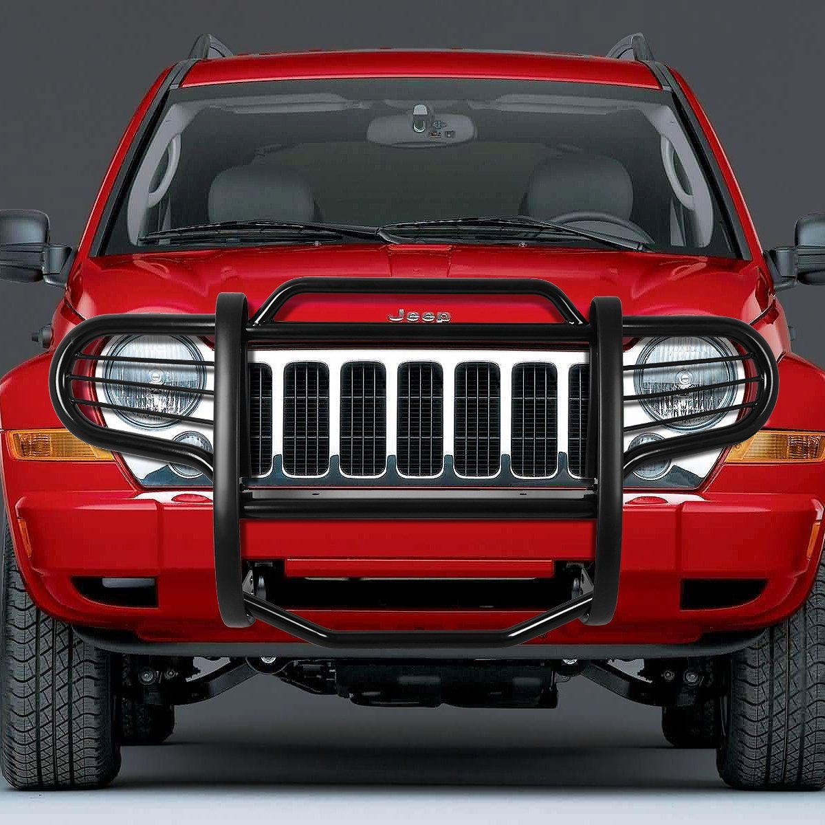 02-07 Jeep Liberty KJ Front Bumper Protector Brush Grille