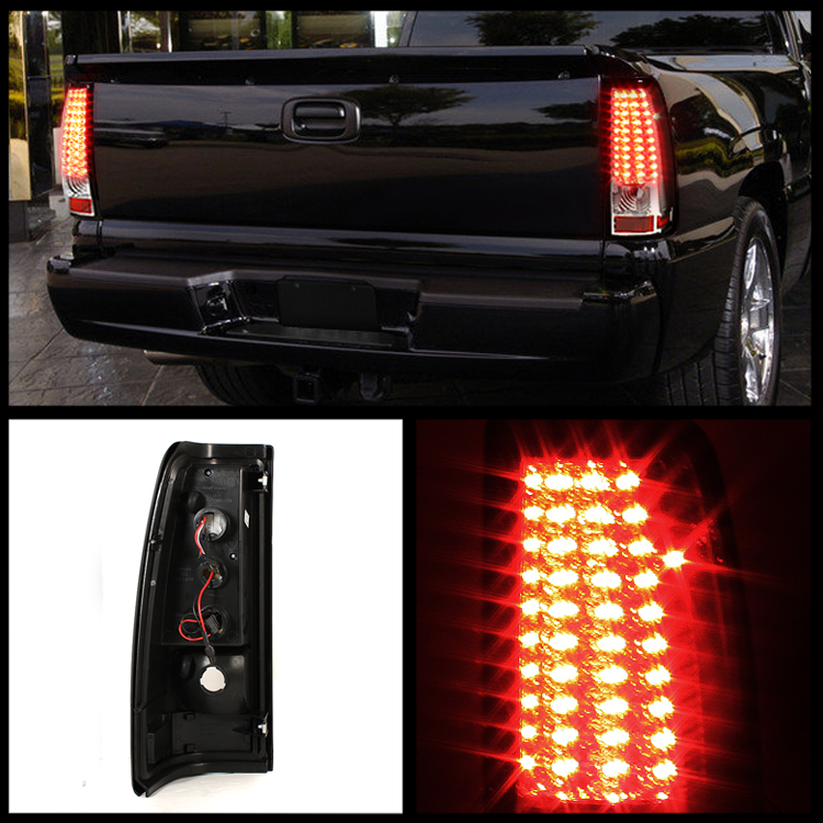 chevy silverado gmc sierra performance full led tail lights chrome. Black Bedroom Furniture Sets. Home Design Ideas