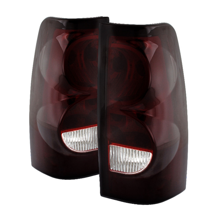 03 06 chevy silverado oem style replacement tail lights red smoked