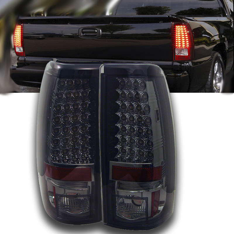 03 06 Chevy Silverado Sierra Led Tail Lights Smoke 111