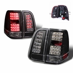 03-06 Lincoln Navigator LED Tail Lights - Black
