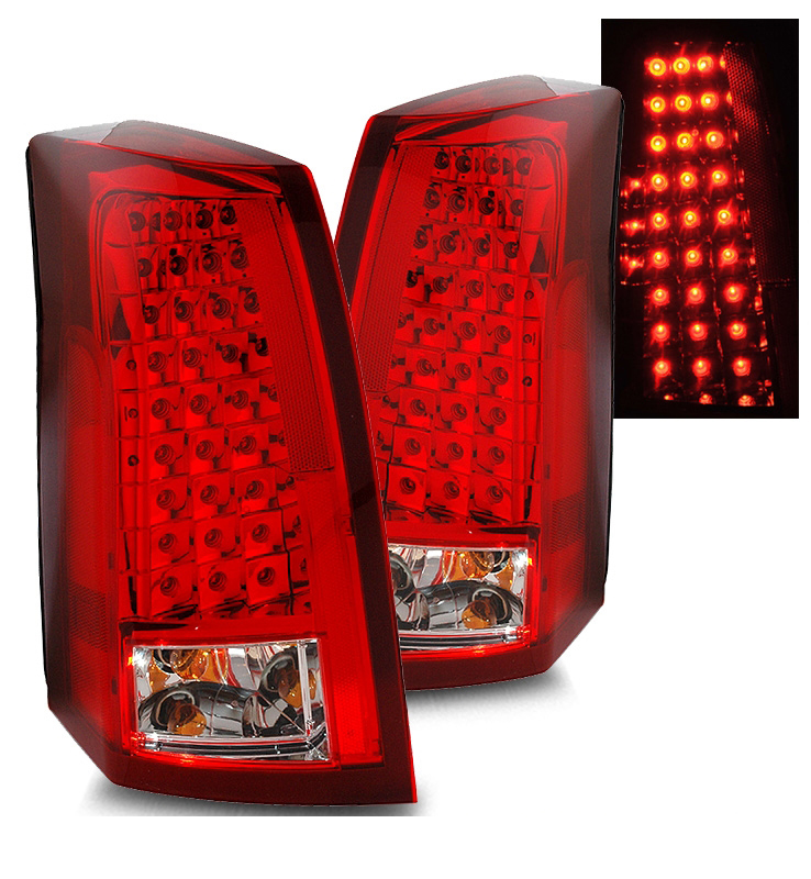 03 07 Cadillac Cts Euro Style Led Tail Lights Red