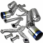"""03-07 infiniti G35 Coupe / Nissan 350Z 3"""" Polished SS Dual Catback Exhaust System - Burnt Tip"""