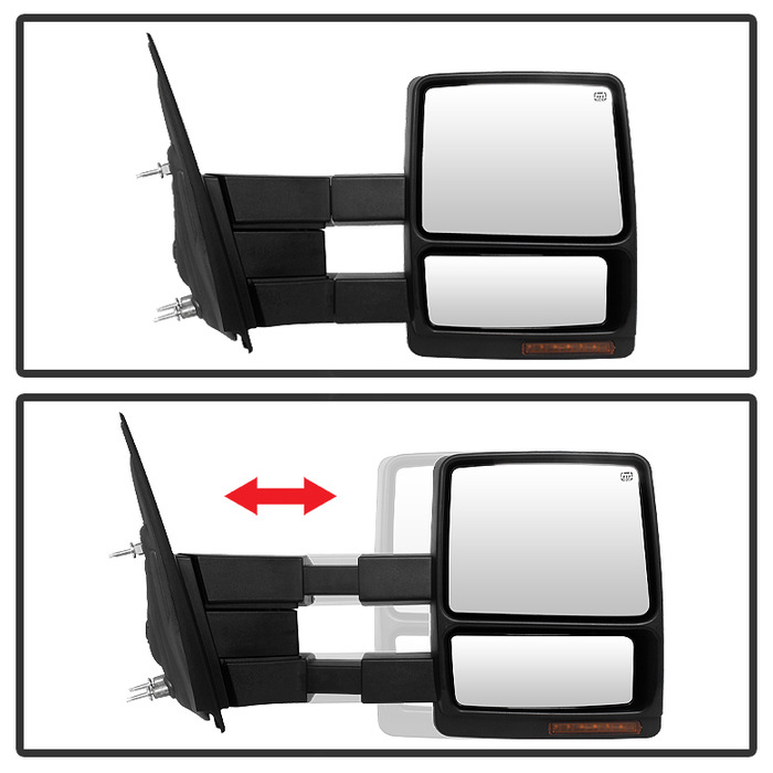 04 06 ford f150 power adjust heated towing mirror passenger side