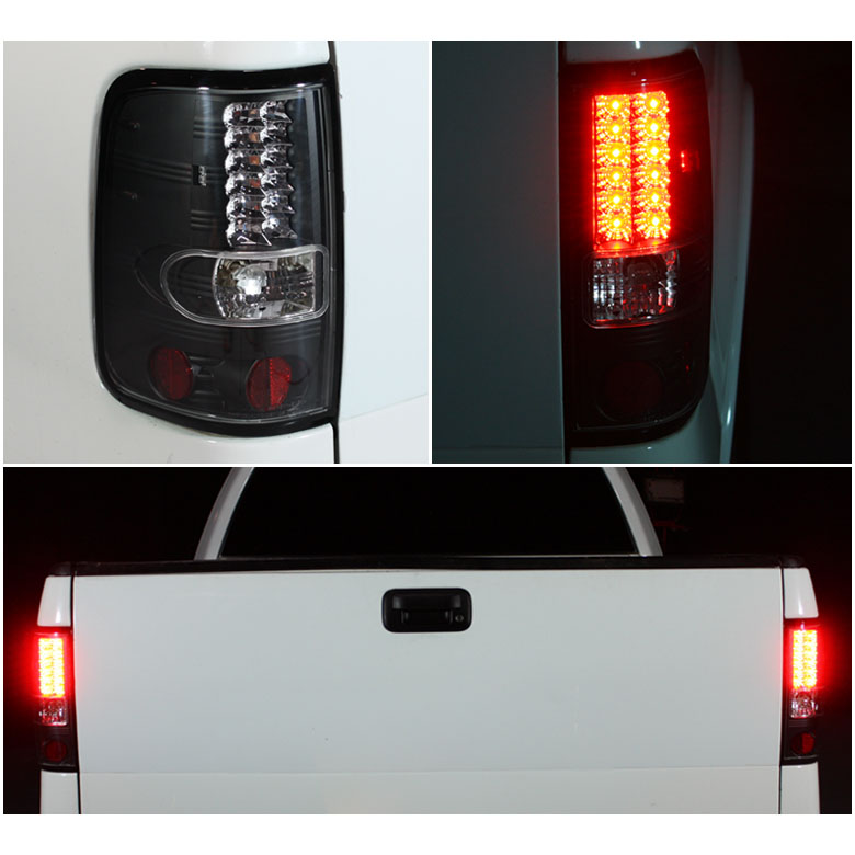 04 08 ford f150 styleside euro led tail lights red clear 111 ff15004 led. Black Bedroom Furniture Sets. Home Design Ideas