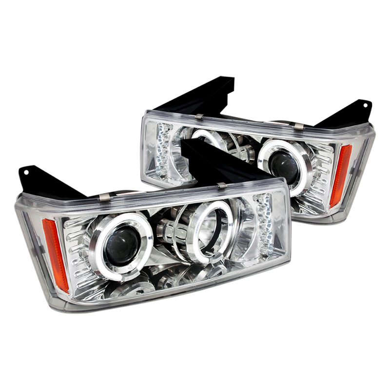 04 12 chevy colorado gmc canyon led drl amp halo projector headlights