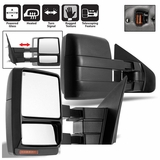 07-14 Ford F150 Pickup Power+Heated+LED Turn Signal Towing View Side Mirrors - Pair