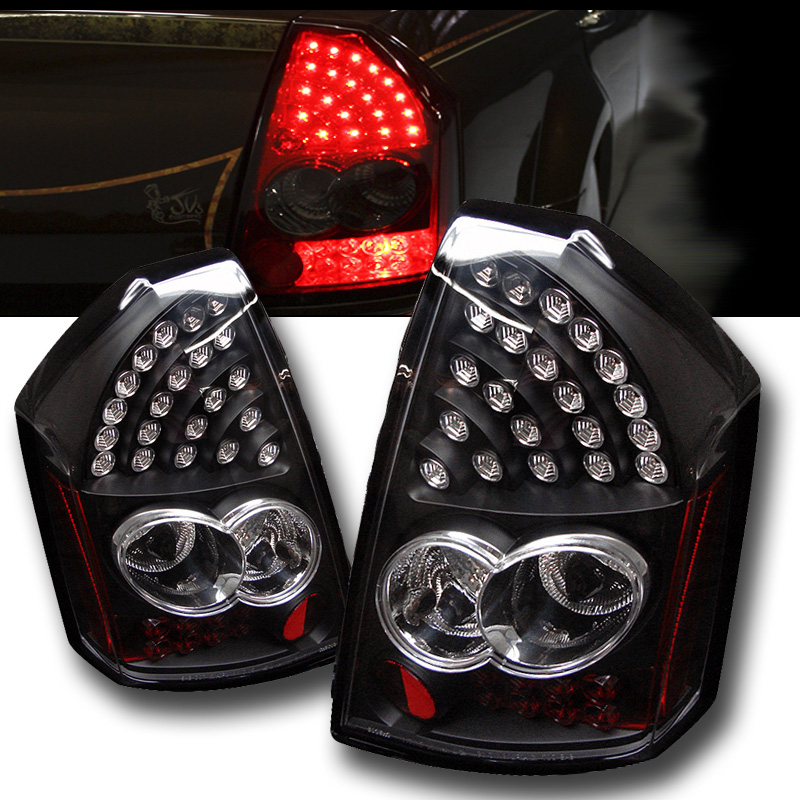 Chrysler 300 2006 Black Led Tail Lights: 2005-2007 Chrysler 300 Performance LED Tail Lights