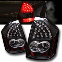 2005-2007 Chrysler 300 Performance LED Tail Lights - Black By Spyder