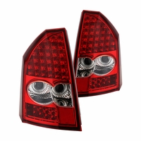 05-07 Chrysler 300 Performance LED Tail Lights - Red Clear