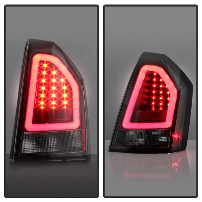 Chrysler 300 2006 Black Led Tail Lights: 05-07 Chrysler 300C Lumileds LED Tube Tail Lights