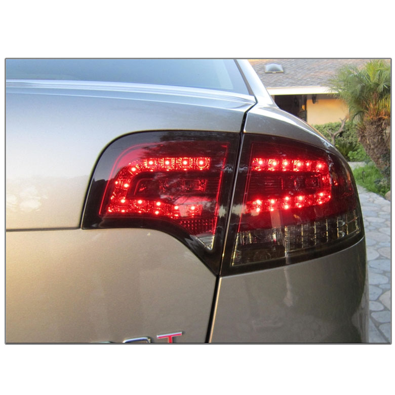 05 08 audi a4 s4 rs4 4dr sedan euro style led tail. Black Bedroom Furniture Sets. Home Design Ideas