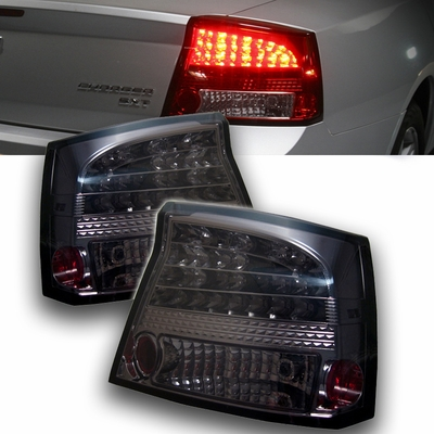 Spyder 2006-2008 Dodge Charger LED Performance Tail Lights - Smoked ALT-YD-DCH05-LED-SM