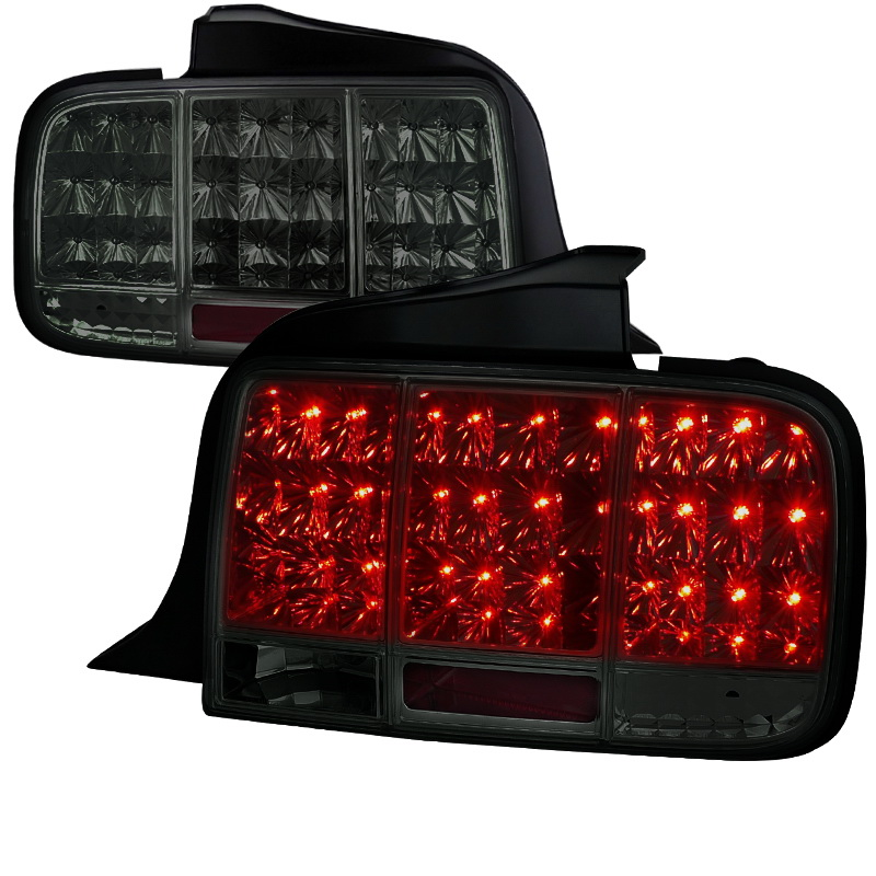 05 09 ford mustang led sequential turn signal led tail lights smoked. Black Bedroom Furniture Sets. Home Design Ideas