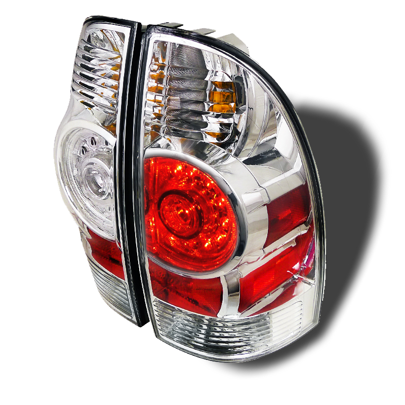 05 12 toyota tacoma pickup euro style led tail lights chrome. Black Bedroom Furniture Sets. Home Design Ideas