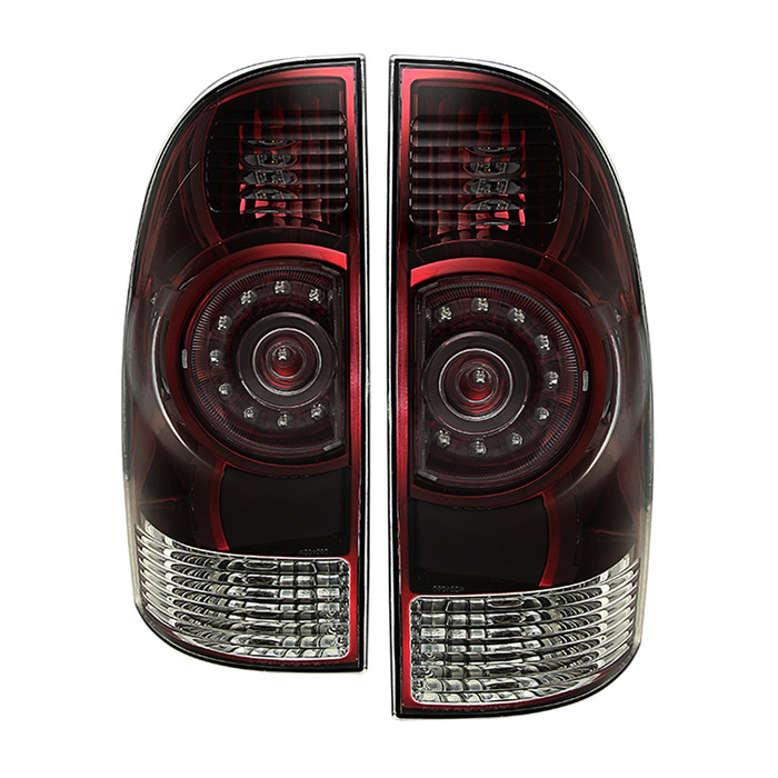 05 15 toyota tacoma oem led style tail lights red smoked. Black Bedroom Furniture Sets. Home Design Ideas