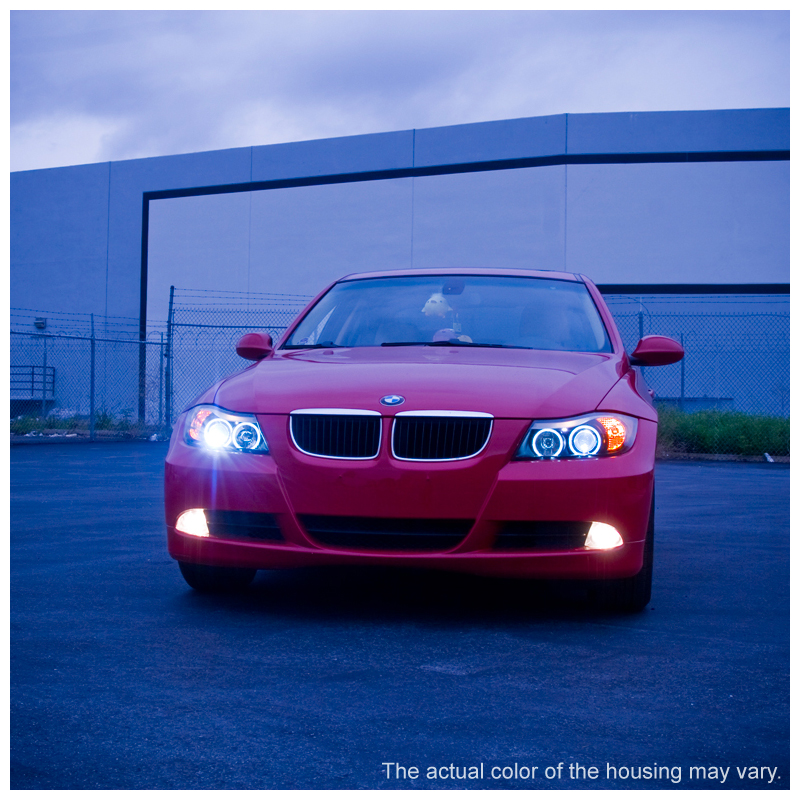 06 08 Bmw 3 Series E90 4dr Angel Eye Halo Amp Led Projector