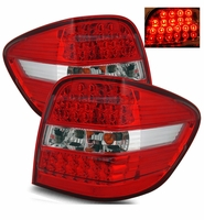 06-09 Mercedes Benz W164 ML320 350 63 Performance LED Tail Lights - Red / Clear