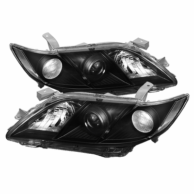07-09 Toyota Camry Euro Style Projector Headlights - Black