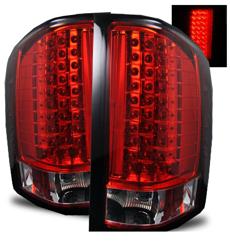 2007 2013 chevy silverado 1500 2500 hd euro led tail lights red. Black Bedroom Furniture Sets. Home Design Ideas