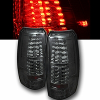 07-13 07-2011 Chevy Avalanche Euro Style LED Tail Lights - Smoked ALT-YD-CAV07-LED-SM By Spyder