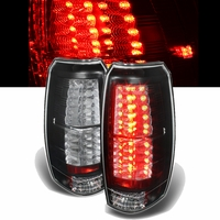 07-13 Chevy Avalanche Euro Style LED Tail Lights - Black ALT-YD-CAV07-LED-BK By Spyder