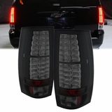 07-13 Chevy Suburban / Tahoe / Yukon Performance LED Tail Lights - Black Smoked ALT-YD-CSUB07-LED-BSM By Spyder