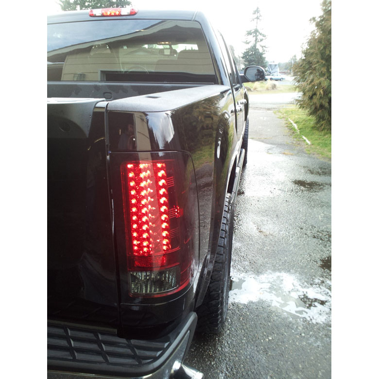 07 13 gmc sierra pickup truck led tail lights chrome 111. Black Bedroom Furniture Sets. Home Design Ideas