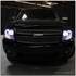 07-2014 Chevy Suburban / Tahoe / Avalanche  Angel Eye Halo & LED Projector Headlights - Smoked
