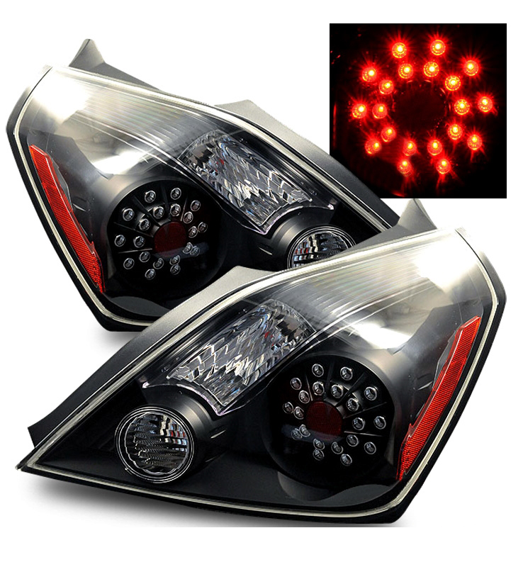 08 10 Nissan Altima 2dr Coupe Euro Style Led Tail Lights