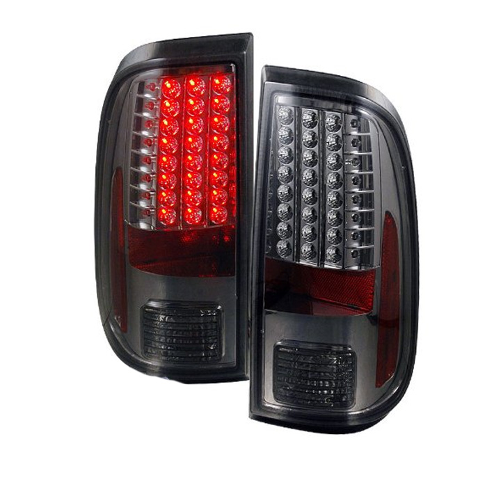 08 13 ford f250 f350 superduty euro led tail lights smoked. Black Bedroom Furniture Sets. Home Design Ideas