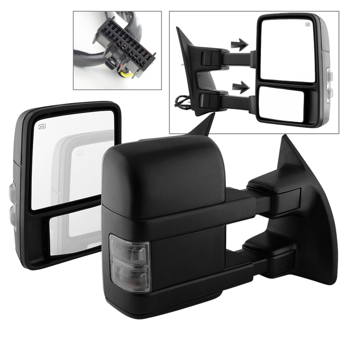 08-16 Ford F250-F550 Superduty [Power|Heated] LED Signal Towing Side Mirror