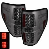 09-13 Ford F150 Euro Style LED Tail Lights - Smoke 111-FF15009-LED-SM By Spyder