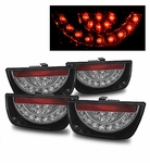 10-13 Chevy Camaro Euro Style LED Tail Lights - Black