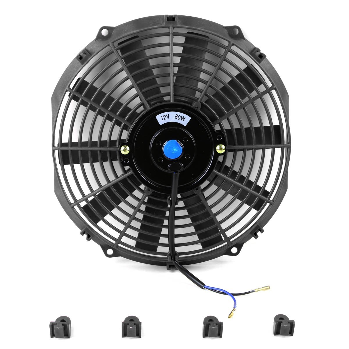 Black Electric Radiator Cooling Fan Assembly Kit (Pack of 2 #085EC3