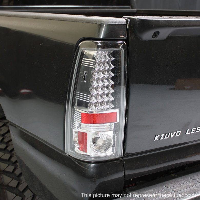 01 02 chevy silverado 1999 2003 gmc sierra led tail lights black. Black Bedroom Furniture Sets. Home Design Ideas