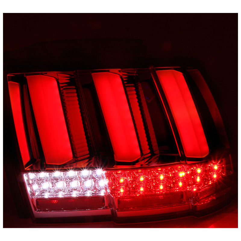 1999 2004 ford mustang sequential led tail lights smoked. Black Bedroom Furniture Sets. Home Design Ideas