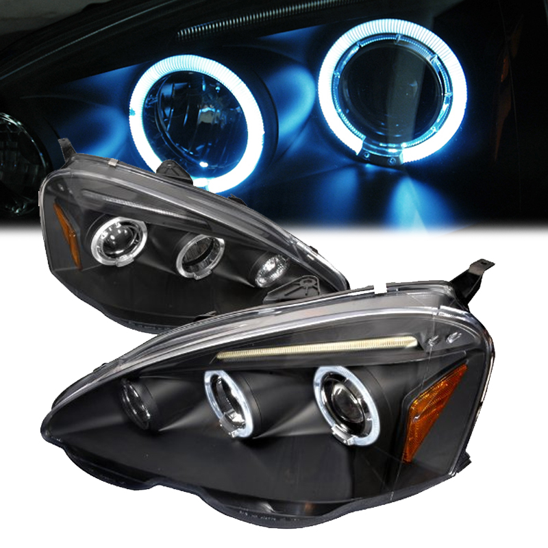 2002-2004 Acura RSX Angel Eye Halo & LED Projector