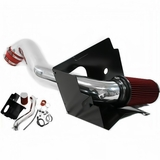 2002-2004 Dodge Ram 1500 with 4.7L V8 Performance Heat Shield Cold Air Intake - Red Filter