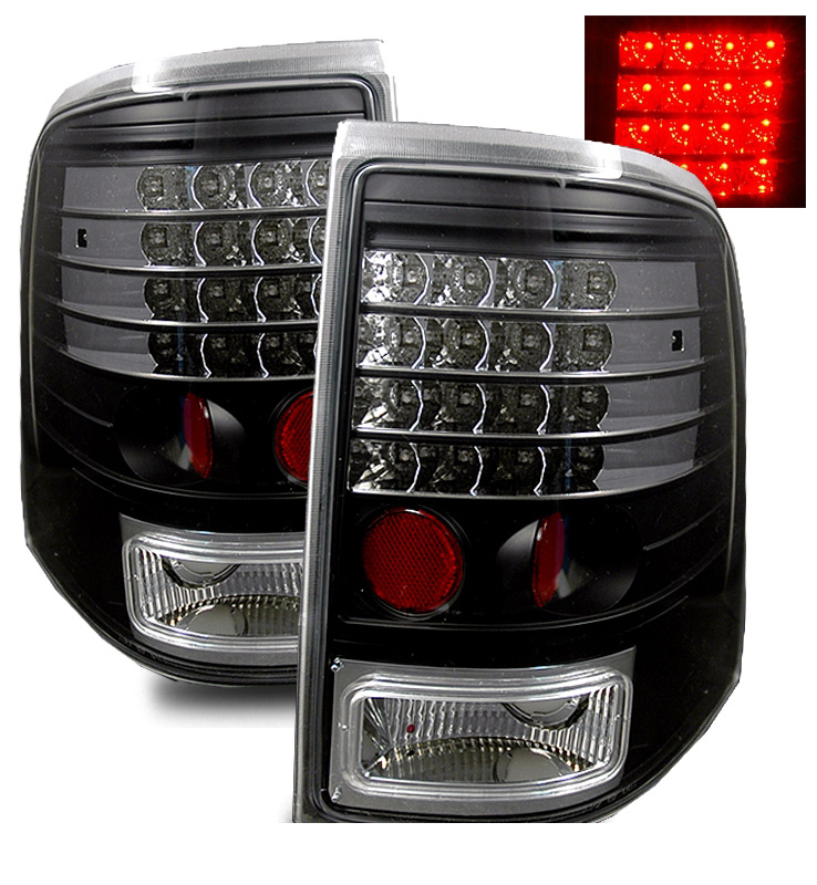 ford explorer mountaineer full performance led tail lights black. Black Bedroom Furniture Sets. Home Design Ideas