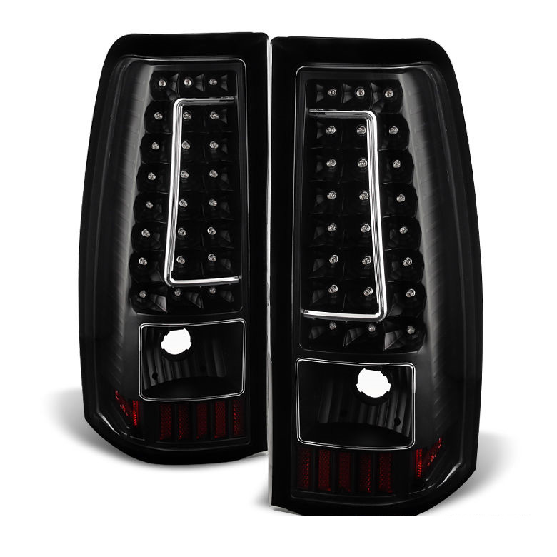 2006 chevy silverado gmc sierra performance led tail lights black. Black Bedroom Furniture Sets. Home Design Ideas