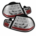 2004-2006 BMW 3-Series E46 Coupe LED Light-Tube Tail Light  - Chrome