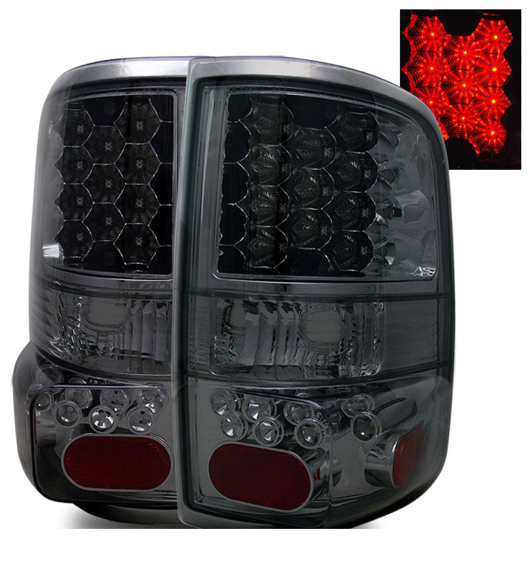 2004 2008 ford f150 f 150 euro style led tail lights smoked. Black Bedroom Furniture Sets. Home Design Ideas