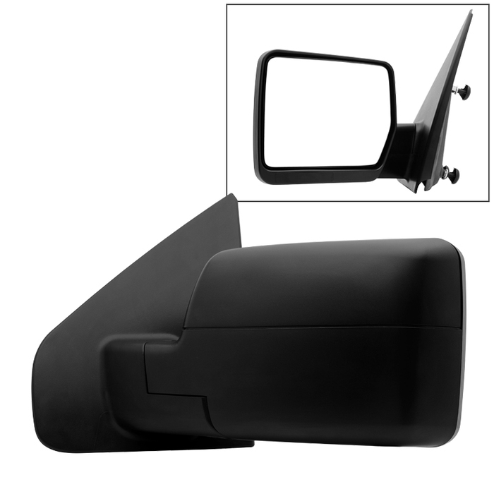 2004-2014 Ford F150 Textured Manual Rear View Side Mirror Left Driver Side