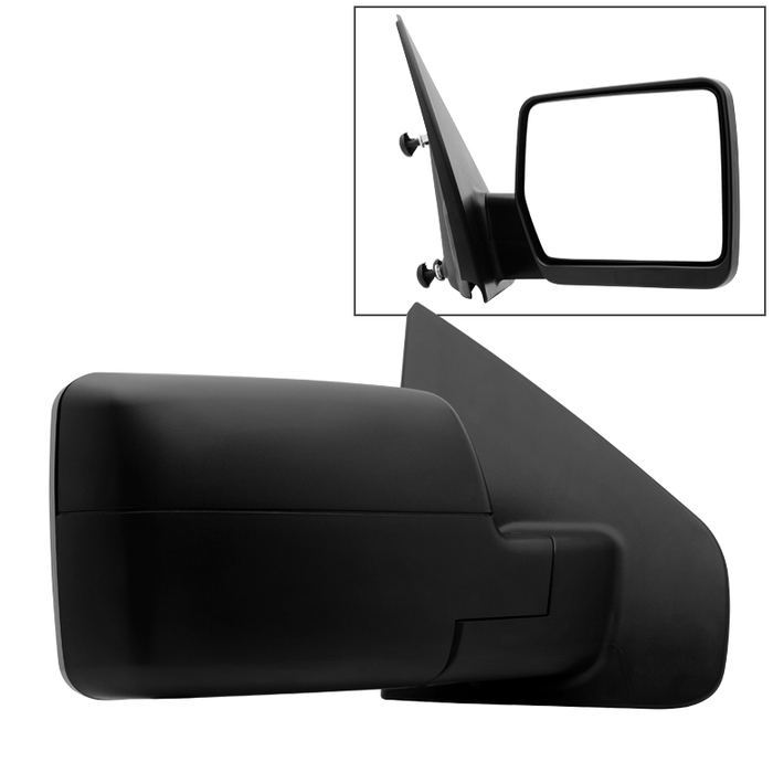 2004-2014 Ford F150 Textured Manual Rear View Side Mirror Right Passenger Side