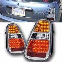 2005-2006 Mini Cooper S (Non-Base Model) Euro Style LED Tail Lights - Chrome